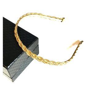 J.Crew Gold Braided Headband